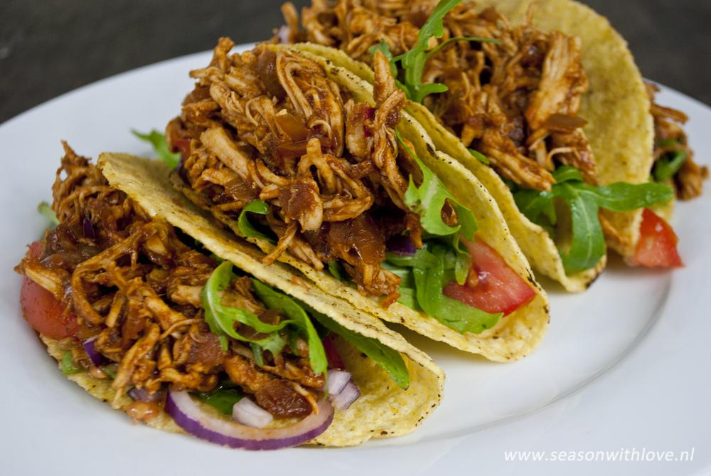 pulled chicken bbq taco's - season with love